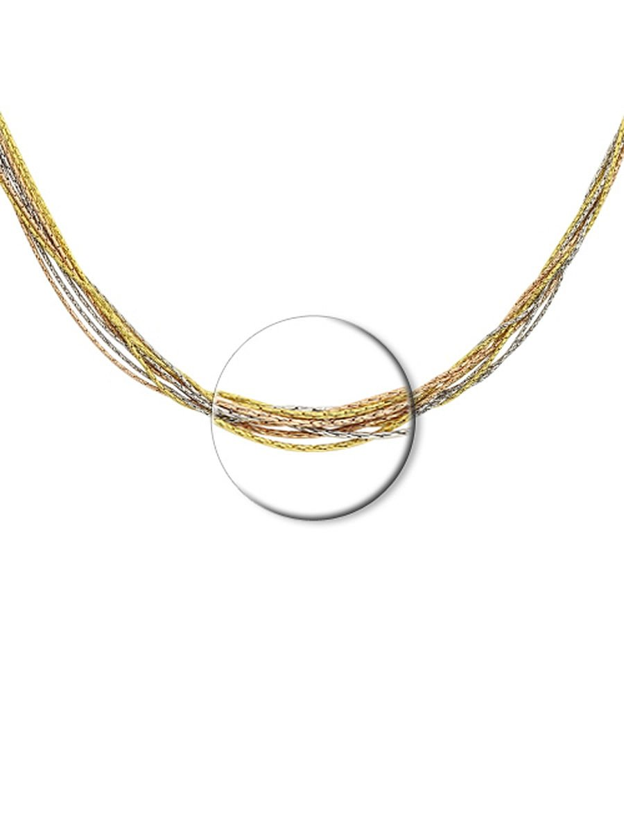"""Necklaces chain """"Mixed Golden Pink Silver"""" SOKOLOV 925 sterling silver gilding jewelry gift"""