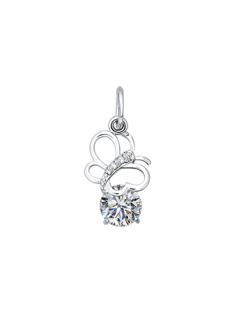 """Pendants """"Butterfly"""" SOKOLOV 925 sterling silver enamel crystal Zirconia jewelry gift"""