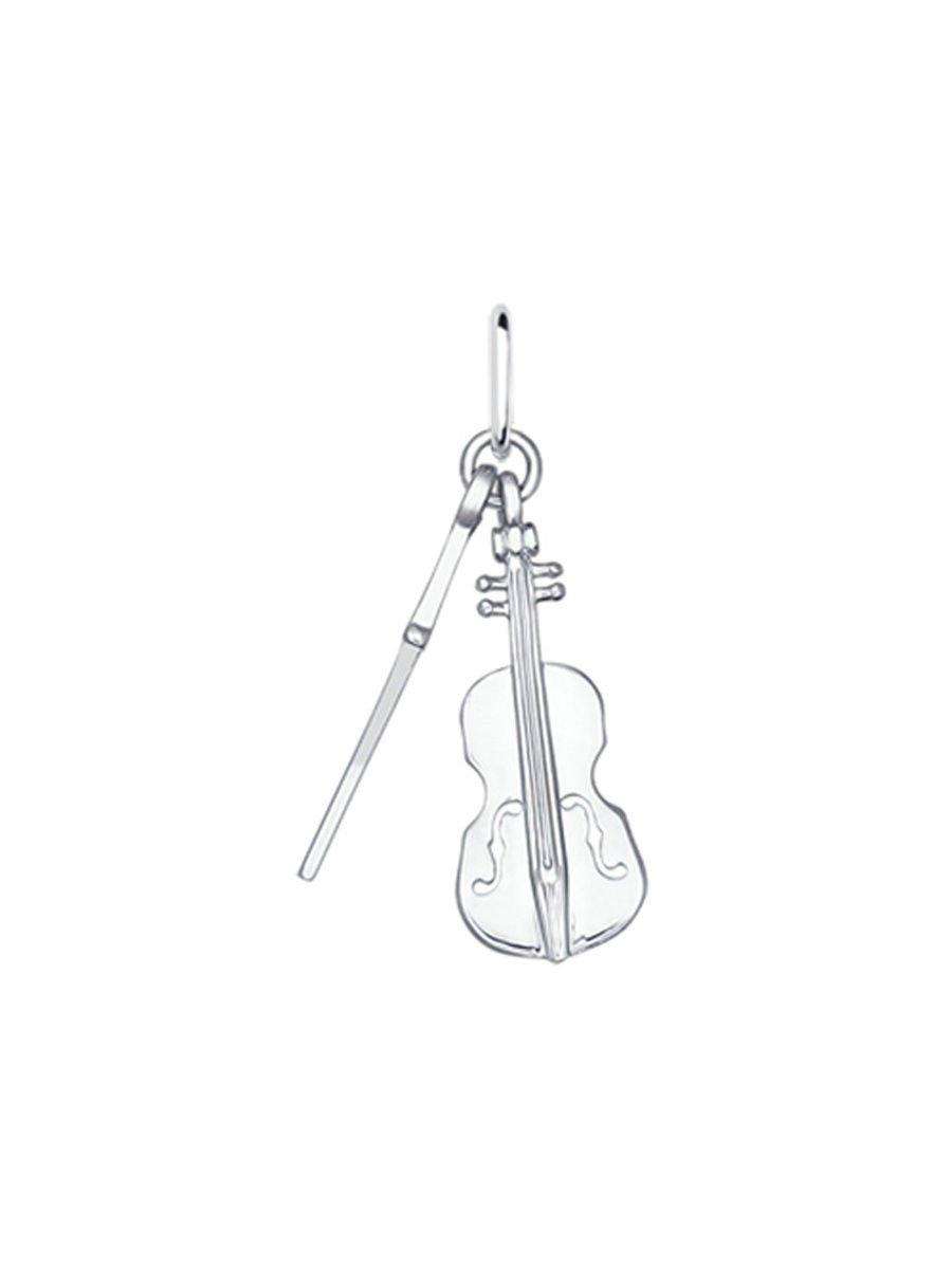 "Pendants ""Violin"" SOKOLOV 925 sterling silver crystal Zirconia jewelry gift"