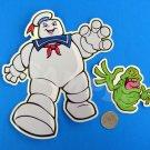 Ghostbusters Vinyl Stickers Set - Slimer & Stay Puft Marshmallow Man Die Cut Premium Decals