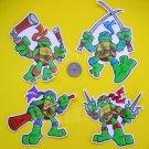 TMNT Vinyl Stickers Set - Teenage Mutant Ninja Turtles Die Cut Premium Decals Set of 4