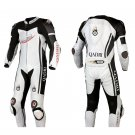 Motorcycle Cowhide Leather Suit 1.3 mm Handmade Premium Quality Custom Made Design Size M