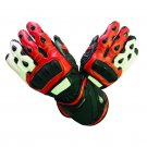 Motorcycle Cowhide Leather Gloves Hard Knuckle Full Finger Protective Racing Gear Size L