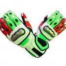 Motorcycle Genuine Cowhide Leather Gloves Motorbike Full Finger Protective Racing Gear Size L
