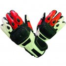 MOTORBIKE RACING GLOVES Motorcycle Gloves Genuine Cowhide Leather Safety Gloves Size S