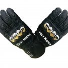 MOTORBIKE RACING GLOVES Motorcycle Gloves Genuine Cowhide Leather Safety Gloves Size L