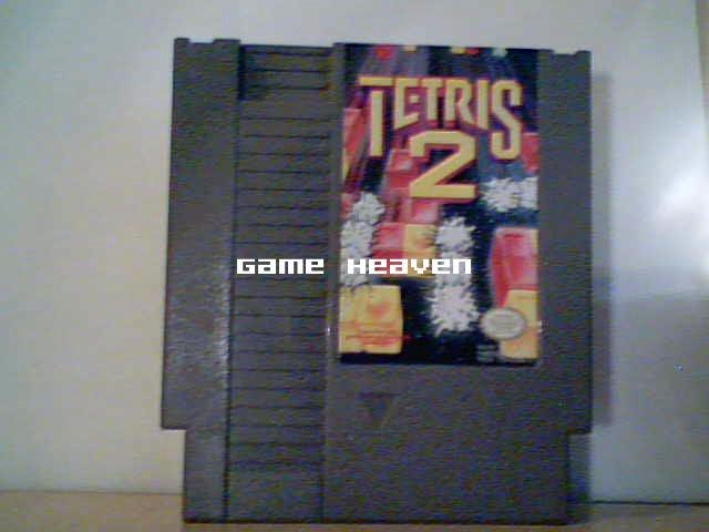 Tetris 2 - Yellow Text Label