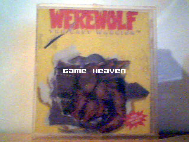 Clear Plastic NES Game Case - Werewolf Game Box Attached To Inside