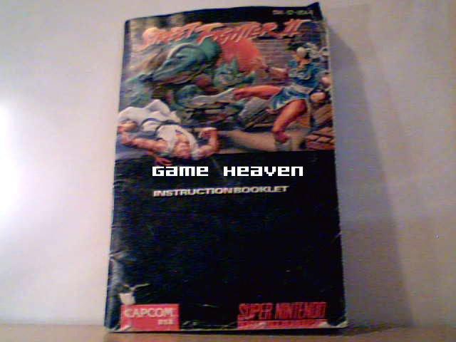 Street Fighter II Instruction Booklet