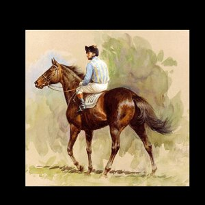 """HORSE RACING OIL PAINTING ON CANVAS 20""""X24"""""""