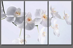 "3 PIECES ABSTRACT OIL PAINTING ON CANVAS 12""X32""X3 PIECES"
