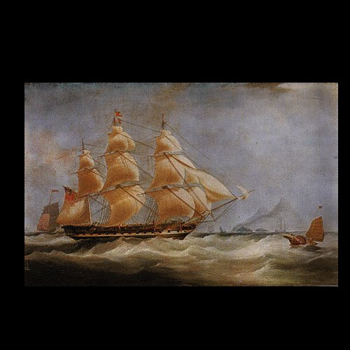 """BOAT-SEA 008 OIL PAINTING ON CANVAS 20""""X24"""""""