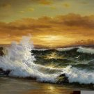 """BOAT-SEA 027 OIL PAINTING ON CANVAS 20""""X24"""""""