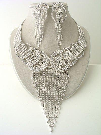 Designer Circle and V Necklace/Earring Set Reg $169.99