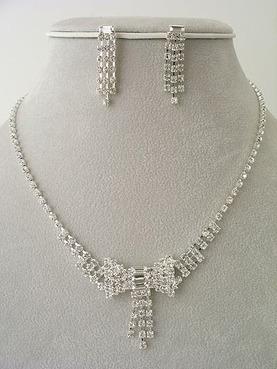 """Bowtie"" Designer Necklace/Earring Set Reg $49.99"