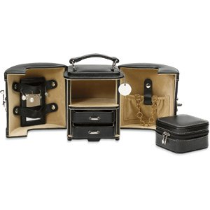 Black Leatherette Jewelry Case - Great for Travel Reg $59.99