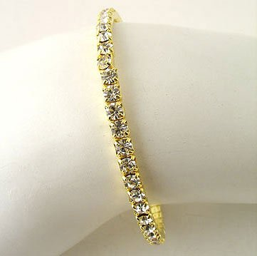 Simple and Elegant Rhinestone Cuff