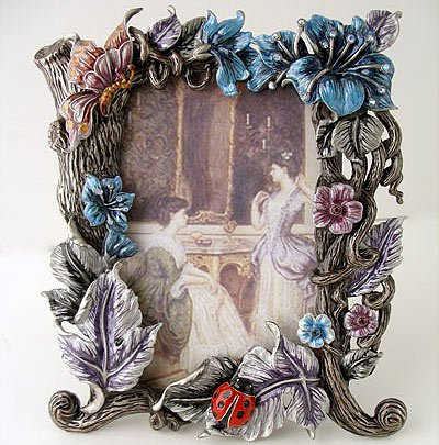 Victorian Style Metal Picture Frame $59.99