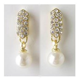 Best Selling Simulated Pearl and Crystal Earrings Reg $24.99