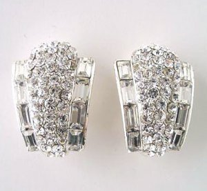 Magnificent Evening Wear Rhinestone Earrings - CLIP ON $49.99