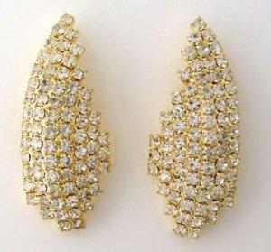 Oriental Fan CZ Earrings - CLIP ON Reg $49.99