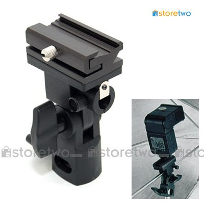 JJC Flash Shoe Holder Swivel Bracket Adapter Mount / Umbrella Holder