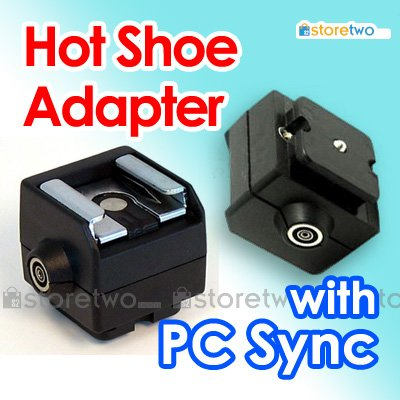 Seagull Flash Hot Shoe Adapter with PC Sync Socket SC-2
