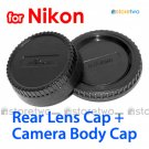Rear Lens + Camera Body Caps for Nikon Camera
