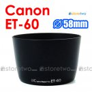 ET-60 - JJC Lens Hood for Canon EF 90-300mm, 75-300mm f/4-5.6 III USM, EF-S 55-250mm f/4-5.6 IS II