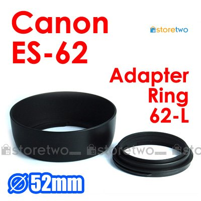 ES-62 with 62-L - JJC Lens Hood for Canon EF 50mm f/1.8 II
