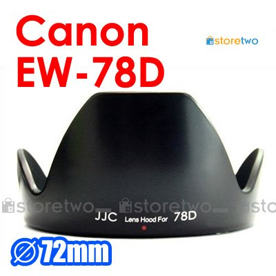 EW-78D - JJC Lens Hood for Canon EF 28-200mm f/3.5-5.6 USM, EF-S 18-200mm f/3.5-5.6 IS