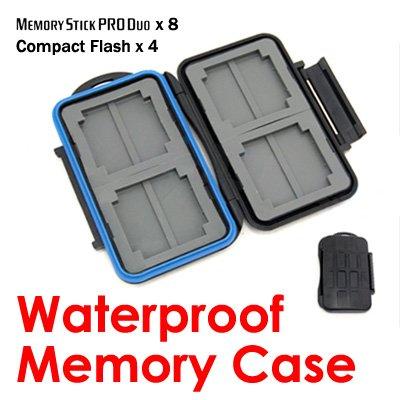 JJC Waterproof Memory Card Case holds CF x 4, MS Pro Duo x 8