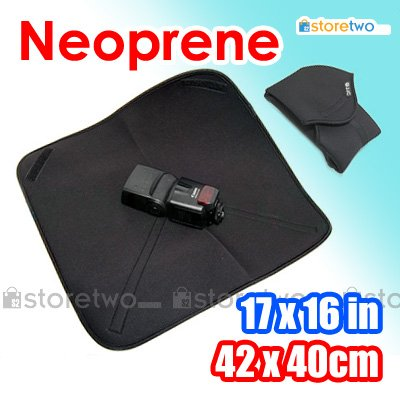 JJC Soft Neoprene Wrap For Camera and Accessories (17 x 16 inches, 42 x 40 cm)