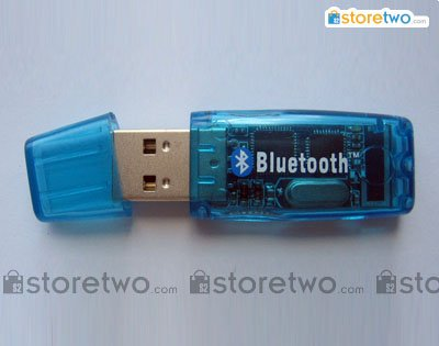 USB Bluetooth Wireless Dongle Adapter for cell phones / PDAs - Crystal Blue