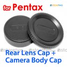 Rear Lens + Camera Body Caps for Pentax Camera