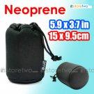 JJC Soft Neoprene Lens Pouch M (5.9 x 3.7 inches, 15 x 9.5 cm)