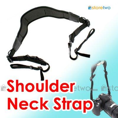 STP-SB2AM - JJC Neoprene Camera Shoulder Neck Strap with Webbing and Quick Release Tabs