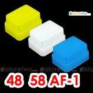 Pack of 3 Flash Bounce Diffuser Cap for Metz 58 AF-2, 58 AF-1, 50 AF-1, 48 AF-1