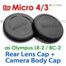 Rear Lens + Camera Body Caps for Micro 4/3 Four Thirds Camera