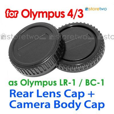 Rear Lens + Camera Body Caps for Olympus Four Thirds 4/3 Camera