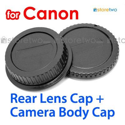 Rear Lens + Camera Body Caps for Canon Camera