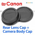 Rear Lens + Camera Body Caps for Canon Camera