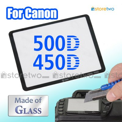 GGS LCD Screen Glass Hard Protector Guard for Canon Rebel T1i, XSi, 500D, 450D, Kiss X3, X2