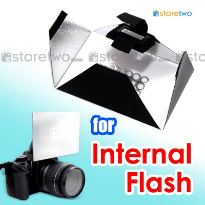 Camera Internal Pop-up Flash Light Bounce Diffuser Softbox