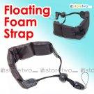 Floating Foam Strap for Waterproof Cameras Samsung Fujifilm Pentax Sony (Black)