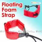 Floating Foam Strap for Waterproof Cameras Samsung Fujifilm Pentax Sony (Red)