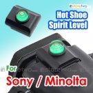 JJC Hot Shoe Cap with Bubble Spirit Level for Sony Konica Minolta