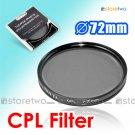 Tianya Circular Polarizer CPL Filter 72mm