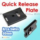 60mm Aluminum Quick Release Plate Arca Swiss Wimberley