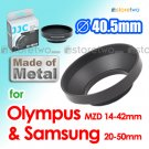 40.5mm JJC Lens Hood for Olympus M.ZUIKO DIGITAL ED 14-42mm f/3.5-5.6, Samsung NX 20-50mm ED